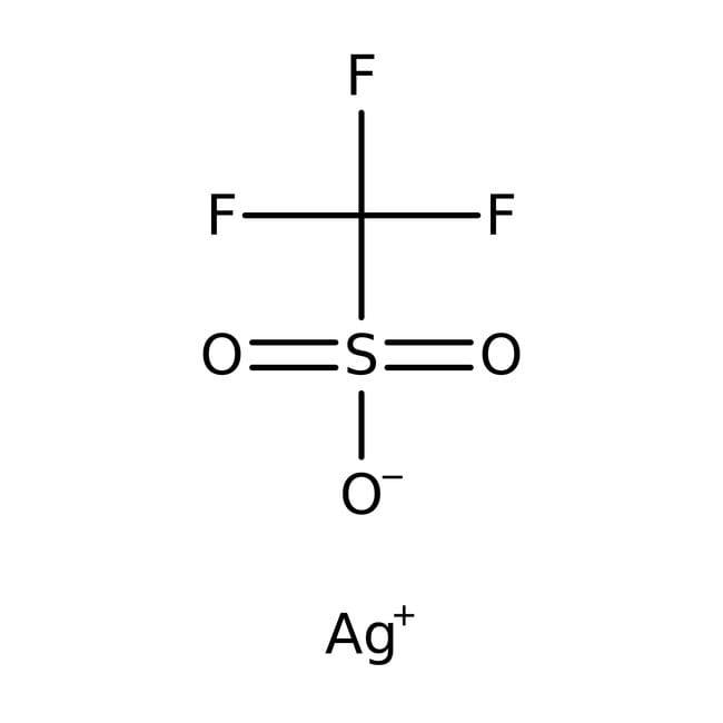 Silver trifluoromethanesulfonate, 99+%, ACROS Organics