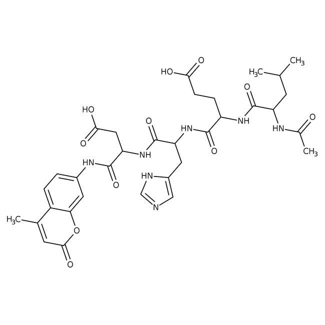 Alfa Aesar™N-Acetyl-Leu-Glu-His-Asp-7-amino-4-methylcoumarin 5mg Alfa Aesar™N-Acetyl-Leu-Glu-His-Asp-7-amino-4-methylcoumarin