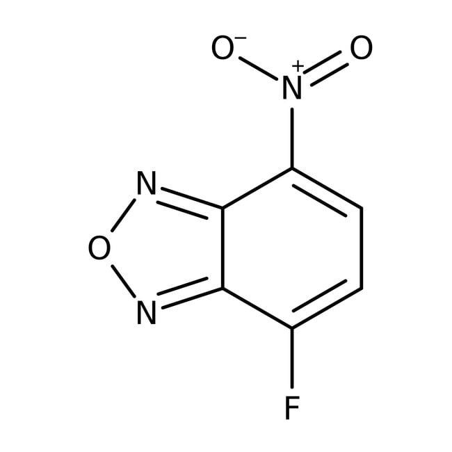 4-Fluoro-7-nitrobenzofurazan, 98%, ACROS Organics™ 5mg; Glass bottle 4-Fluoro-7-nitrobenzofurazan, 98%, ACROS Organics™
