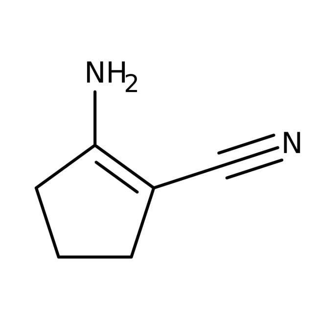 Alfa Aesar™2-Amino-1-cyclopentene-1-carbonitrile, 98% 100g Alfa Aesar™2-Amino-1-cyclopentene-1-carbonitrile, 98%