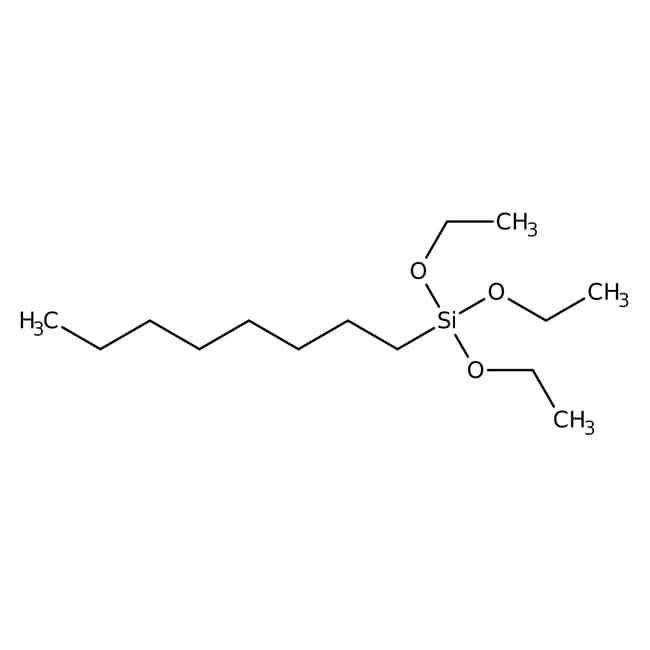 n-Octyltriethoxysilane, 97%, ACROS Organics™ 25mL; Glass bottle n-Octyltriethoxysilane, 97%, ACROS Organics™