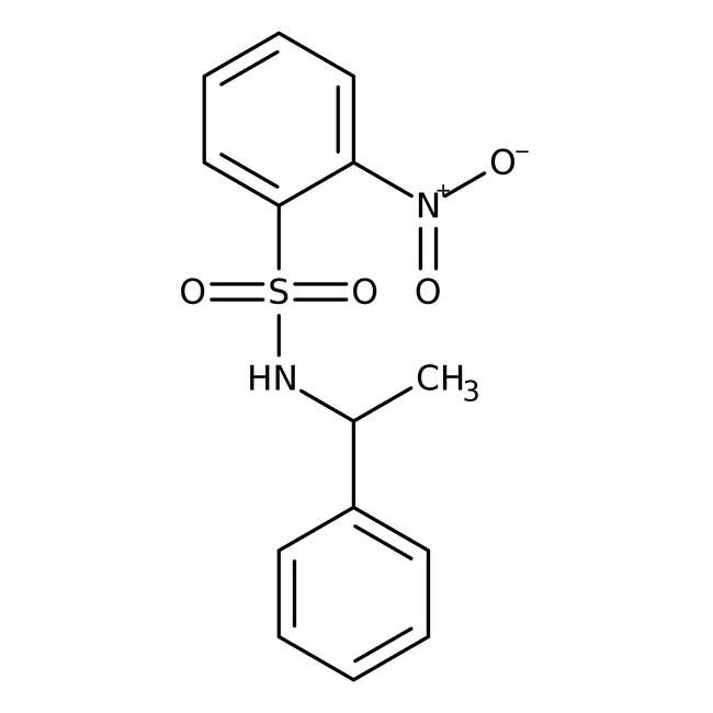 Alfa Aesar™2-Nitro-N-(1-phenylethyl)benzenesulfonamide, 97% 1g Ver productos