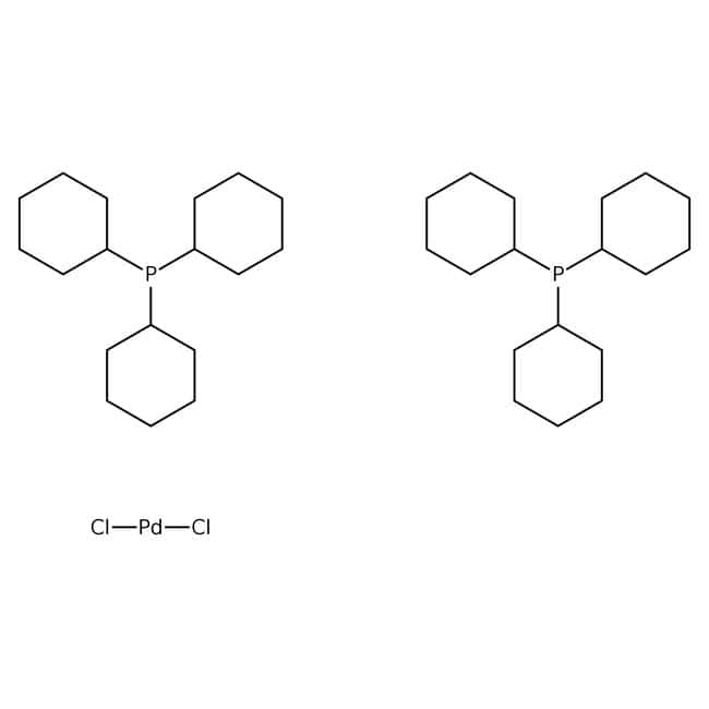 Dichlorobis(tricyclohexylphosphine)palladium(II), 98%, ACROS Organics™ 250mg; Glass bottle Dichlorobis(tricyclohexylphosphine)palladium(II), 98%, ACROS Organics™