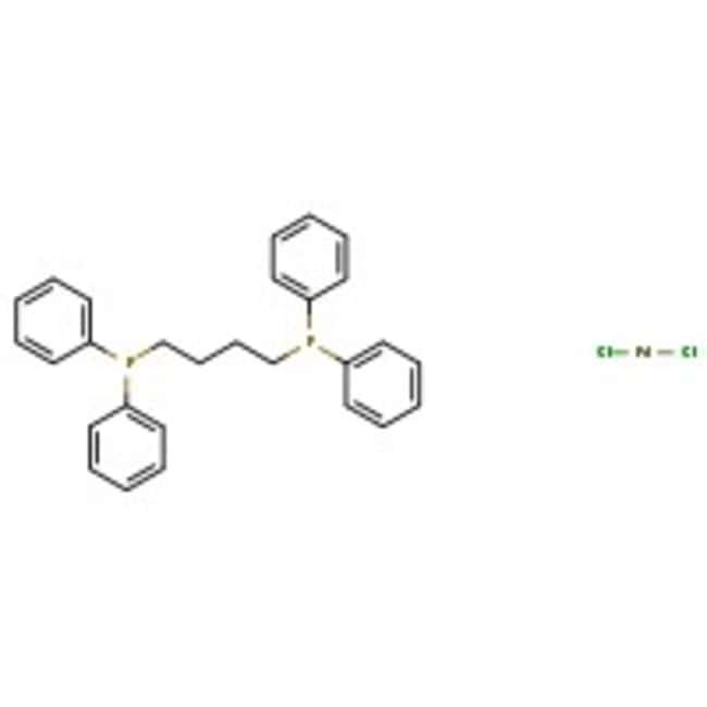 Dichloro[bis(1,4-diphenylphosphino)butane]palladium(II), Pd 17.6%, Alfa Aesar™ 5g Dichloro[bis(1,4-diphenylphosphino)butane]palladium(II), Pd 17.6%, Alfa Aesar™