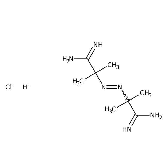 2,2'-Azobis(2-methylpropionamidine) dihydrochloride, 98%, ACROS Organics™ 50g, Plastic Bottle 2,2'-Azobis(2-methylpropionamidine) dihydrochloride, 98%, ACROS Organics™