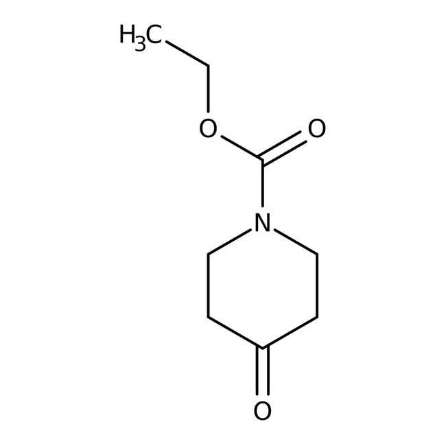 N-Carbethoxy-4-piperidone, 98.5+%, ACROS Organics™ 10g; Glass bottle N-Carbethoxy-4-piperidone, 98.5+%, ACROS Organics™