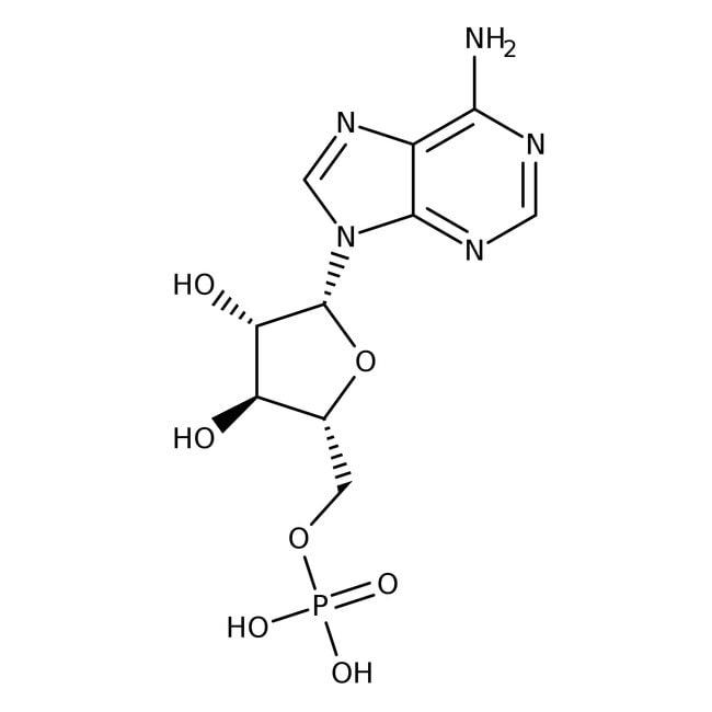 Alfa Aesar™9-beta-D-Arabinofuranosyladenine-5'-monophosphate, 99% 1g Alfa Aesar™9-beta-D-Arabinofuranosyladenine-5'-monophosphate, 99%