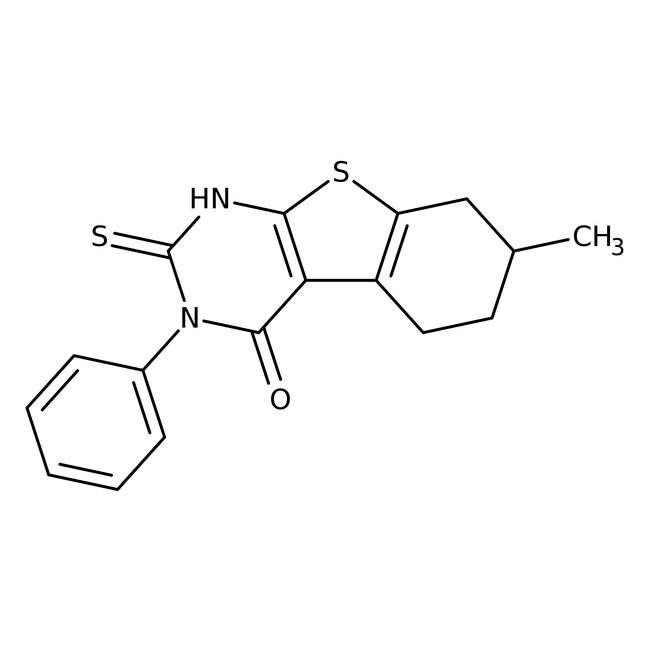 2-Mercapto-7-methyl-3-phenyl-5,6,7,8-tetrahydrobenzo[b]thieno[2,3-d]pyrimidin-4(3H)-one, 96%, Alfa Aesar™ 250mg prodotti trovati