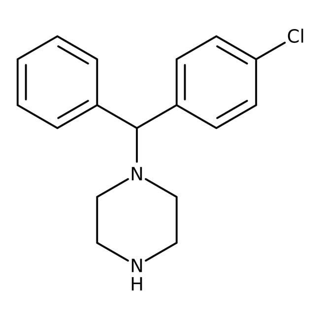 (R)-1-[alpha-(4-Chlorophenyl)benzyl]piperazine, 97%, Alfa Aesar™ 1g (R)-1-[alpha-(4-Chlorophenyl)benzyl]piperazine, 97%, Alfa Aesar™