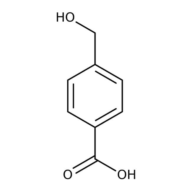 4-Hydroxymethylbenzoic acid, 98%, ACROS Organics™ 1g; Glass bottle 4-Hydroxymethylbenzoic acid, 98%, ACROS Organics™