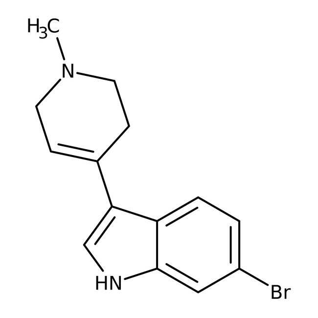 Alfa Aesar™6-Bromo-3-(1-methyl-1,2,3,6-tetrahydro-4-pyridyl)indole, 97% 250mg Alfa Aesar™6-Bromo-3-(1-methyl-1,2,3,6-tetrahydro-4-pyridyl)indole, 97%