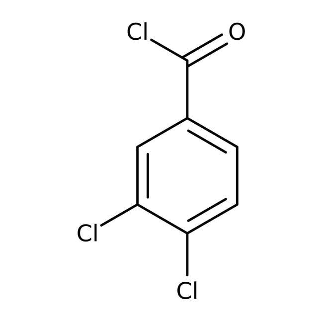 Chlorure de 3,4-dichlorobenzoyle, 97%, Acros Organics 5g; flacon en verre Chlorure de 3,4-dichlorobenzoyle, 97%, Acros Organics