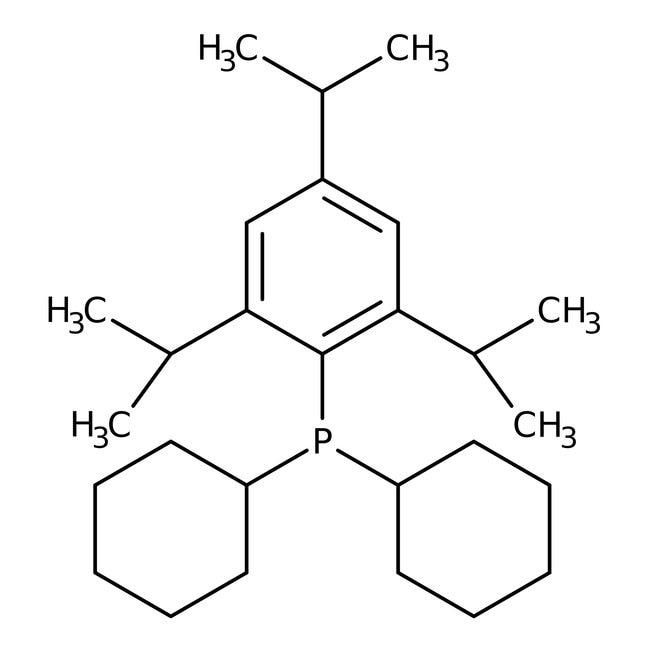 Alfa Aesar™Dicyclohexyl(2,4,6-triisopropylphenyl)phosphine, 97% 500mg Alfa Aesar™Dicyclohexyl(2,4,6-triisopropylphenyl)phosphine, 97%