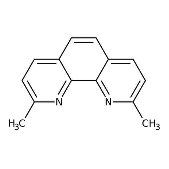 Neocuproine Hydrochloride Monohydrate, 99%, ACROS Organics™ 25g; Glass bottle Neocuproine Hydrochloride Monohydrate, 99%, ACROS Organics™