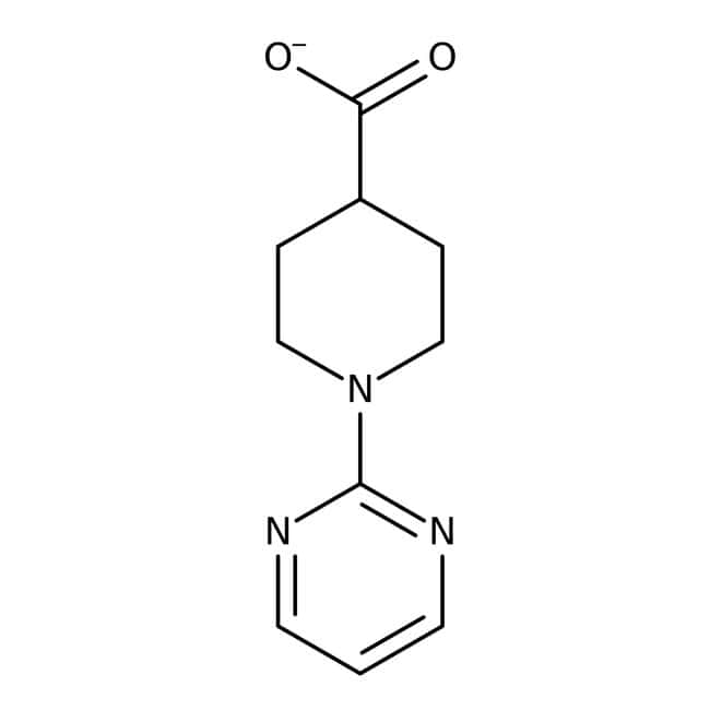 1-Pyrimidin-2-yl-piperidin-4-carboxylsäure, Maybridge Braunglasflasche, 1 g 1-Pyrimidin-2-yl-piperidin-4-carboxylsäure, Maybridge