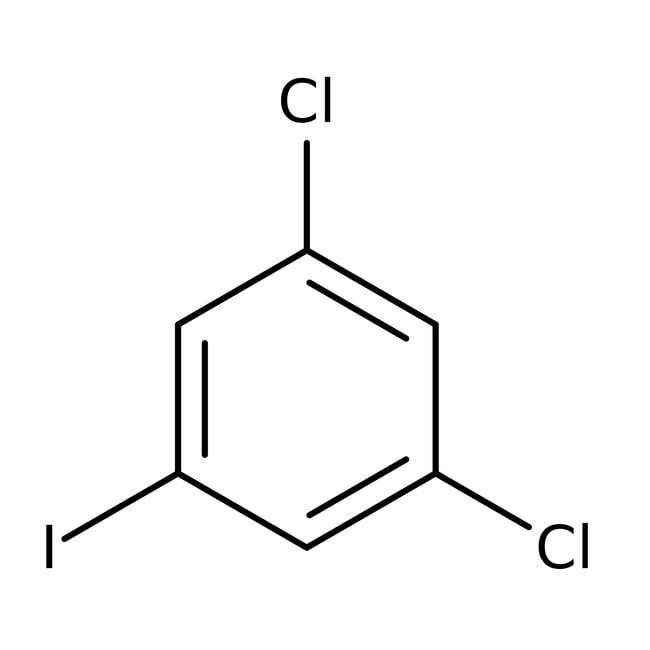 Alfa Aesar™1,3-Dicloro-5-yodobenceno, 99% 25g Alfa Aesar™1,3-Dicloro-5-yodobenceno, 99%