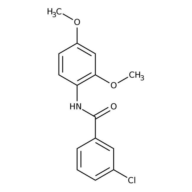 Alfa Aesar™3-Chloro-N-(2,4-dimethoxyphenyl)benzamide, 97% 500mg Alfa Aesar™3-Chloro-N-(2,4-dimethoxyphenyl)benzamide, 97%