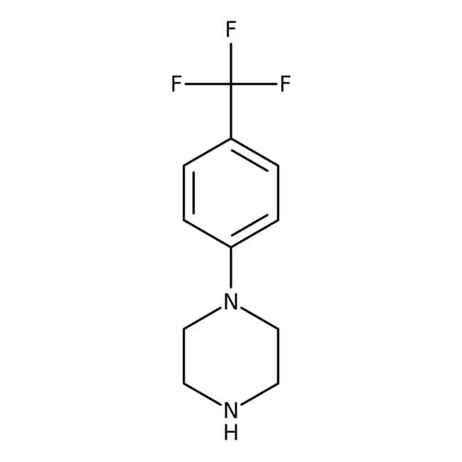 N-(α,α,α-Trifluoro-p-tolyl)piperazine, 98%, ACROS Organics™ 1g; Glass bottle N-(α,α,α-Trifluoro-p-tolyl)piperazine, 98%, ACROS Organics™