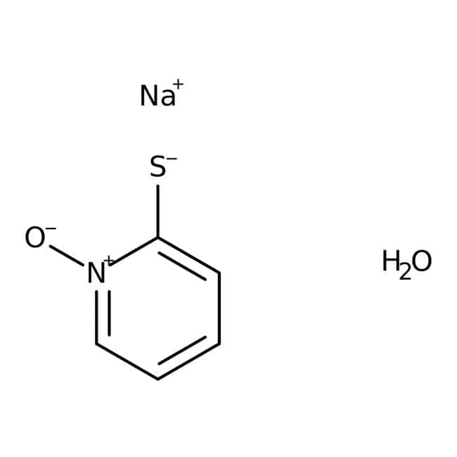 2-Mercaptopiridina-N-óxido, hidrato de sal sódica, 98%, ACROS Organics™ 5g; frasco de vidrio 2-Mercaptopiridina-N-óxido, hidrato de sal sódica, 98%, ACROS Organics™