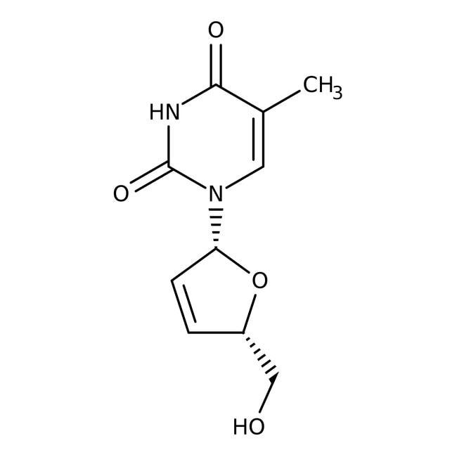3'-Deoxy-2',3'-didehydrothymidine, 98%, Acros Organics