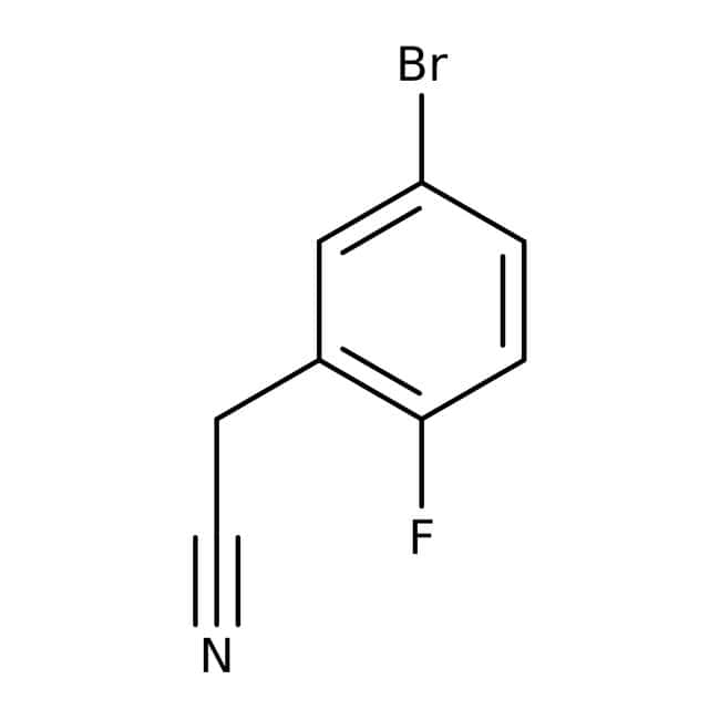 Alfa Aesar™2-(5-Bromo-2-fluorophenyl)acetonitrile, 96% 250mg Alfa Aesar™2-(5-Bromo-2-fluorophenyl)acetonitrile, 96%