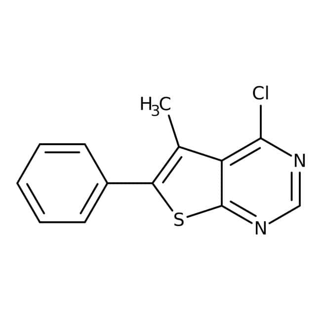 4-chloro-5-methyl-6-phenylthieno[2,3-d]pyrimidine, 97%, Maybridge™ 10g 4-chloro-5-methyl-6-phenylthieno[2,3-d]pyrimidine, 97%, Maybridge™