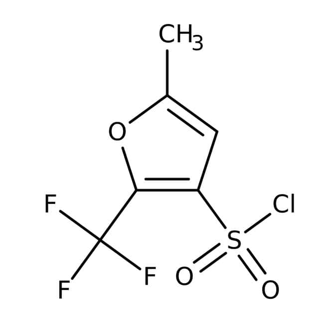 5-Methyl-2-(trifluoromethyl)-3-furansulfonyl chloride, 97%, Maybridge™ Amber Glass Bottle; 1g 5-Methyl-2-(trifluoromethyl)-3-furansulfonyl chloride, 97%, Maybridge™