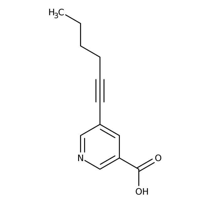 5-Hex-1-Hynylnicotinsäure, 97%, Maybridge 5g 5-Hex-1-Hynylnicotinsäure, 97%, Maybridge