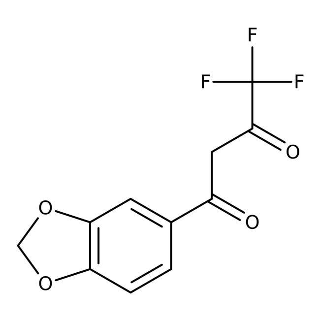 1-(1,3-Benzodioxol-5-yl)-4,4,4-trifluorobutane-1,3-dione, 97%, Thermo Scientific