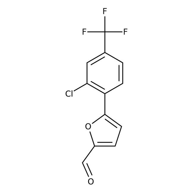 5-[2-Chloro-4-(trifluoromethyl)phenyl]-2-furaldehyde, 95%, Maybridge 25g 5-[2-Chloro-4-(trifluoromethyl)phenyl]-2-furaldehyde, 95%, Maybridge