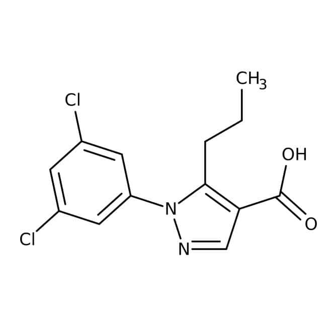 1-(3,5-Dichlorophenyl)-5-propyl-1H-pyrazole-4-carboxylic acid, 97%, Maybridge™ Amber Glass Bottle; 10g 1-(3,5-Dichlorophenyl)-5-propyl-1H-pyrazole-4-carboxylic acid, 97%, Maybridge™