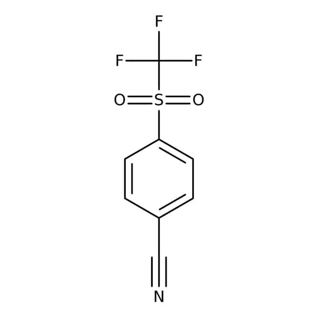 Alfa Aesar  4-(Trifluoromethylsulfonyl)benzonitrile, 97+%