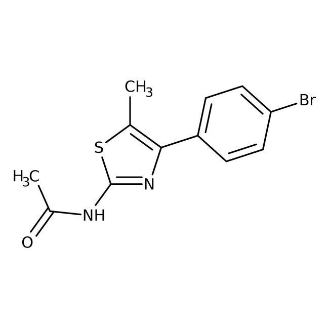Alfa Aesar™2-Acetamido-4-(4-bromophenyl)-5-methylthiazole, 97%: Thiazoles Azoles