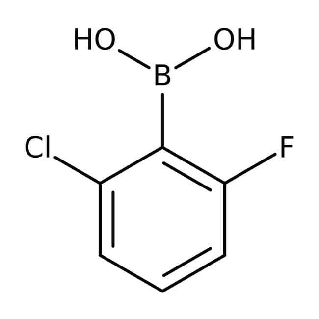 2-chloro-6-fluorophenylboronic acid, 97%, ACROS Organics