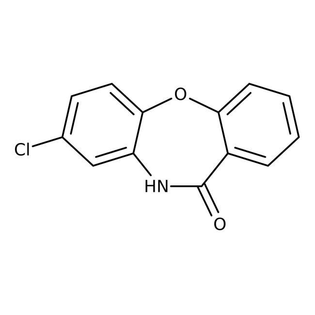 2-Chlorodibenzo[b,f]-1,4-oxazepin-11(10H)-one, 97%, Alfa Aesar™ 5g 2-Chlorodibenzo[b,f]-1,4-oxazepin-11(10H)-one, 97%, Alfa Aesar™