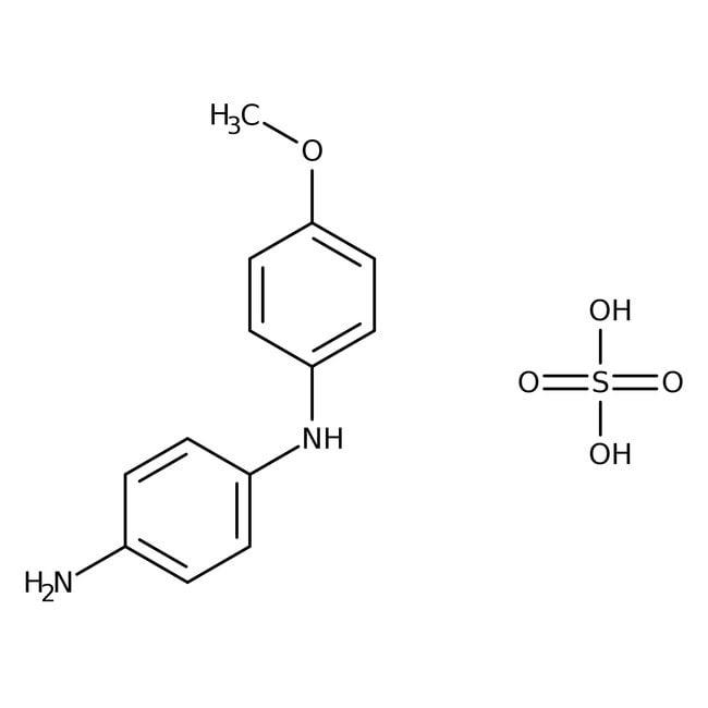 Variamine Blue B Sulfate (=4-Amino-4′-methoxydiphenylamine Sulfate) 97.0+%, TCI America™