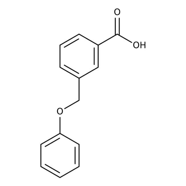 Acide 3-(phénoxyméthyl)benzoïque, 97 %, Maybridge Flacon en verre ambré ; 1 g Acide 3-(phénoxyméthyl)benzoïque, 97 %, Maybridge
