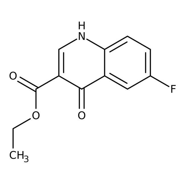 Alfa Aesar™Ethyl 6-fluoro-4-hydroxyquinoline-3-carboxylate, 97% 1g Alfa Aesar™Ethyl 6-fluoro-4-hydroxyquinoline-3-carboxylate, 97%