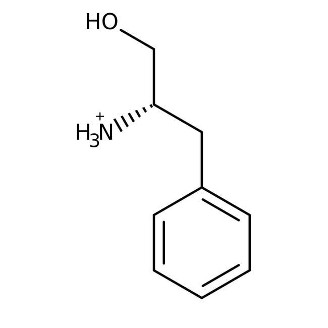 L(-)-2-Amino-3-phenyl-1-propanol, 98%, ACROS Organics™ 25g; Glass bottle L(-)-2-Amino-3-phenyl-1-propanol, 98%, ACROS Organics™