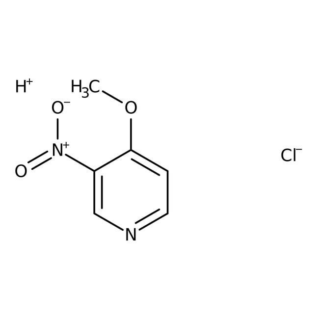 Alfa Aesar™4-Methoxy-3-nitropyridine hydrochloride, 97% 1g Alfa Aesar™4-Methoxy-3-nitropyridine hydrochloride, 97%