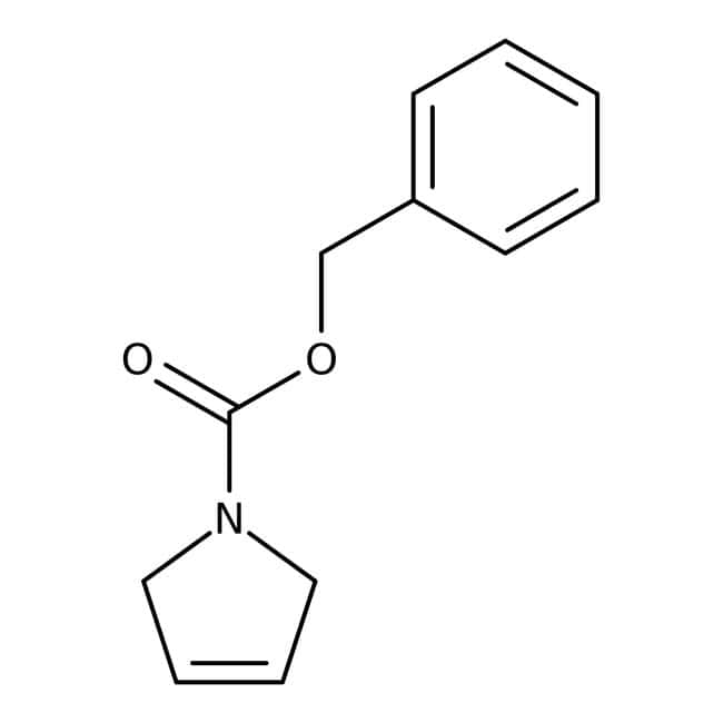 3-Pyrroline-1-carboxylate de benzyle, 98%, ACROSOrganics™ 1g; flacon en verre 3-Pyrroline-1-carboxylate de benzyle, 98%, ACROSOrganics™