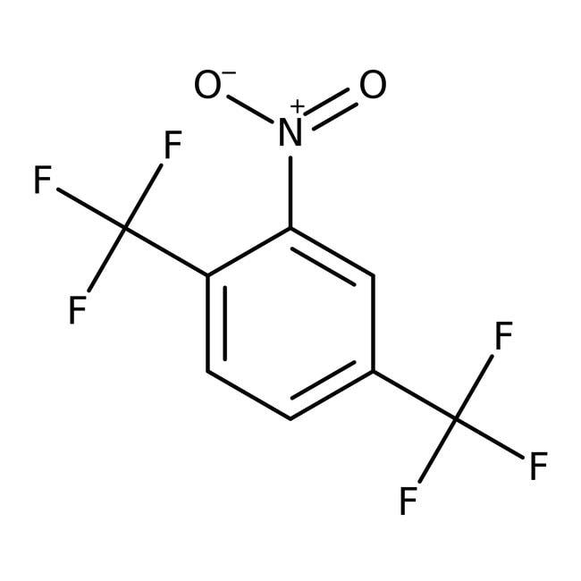 Alfa Aesar™1-Nitro-2,5-bis(trifluoromethyl)benzene, 98% 25g Alfa Aesar™1-Nitro-2,5-bis(trifluoromethyl)benzene, 98%