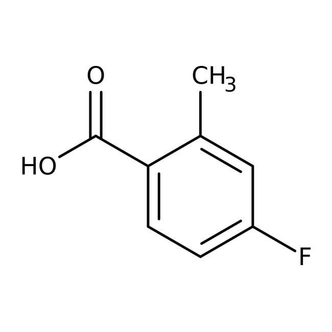 4-Fluoro-2-methylbenzoic acid, 99%, ACROS Organics™ 5g 4-Fluoro-2-methylbenzoic acid, 99%, ACROS Organics™