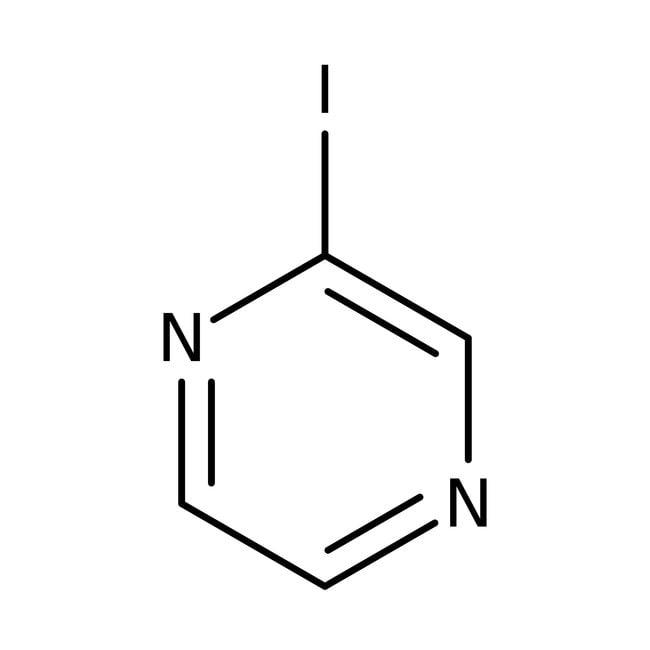 Iodopyrazine, 97%, ACROS Organics™ 1g; Glass bottle Iodopyrazine, 97%, ACROS Organics™