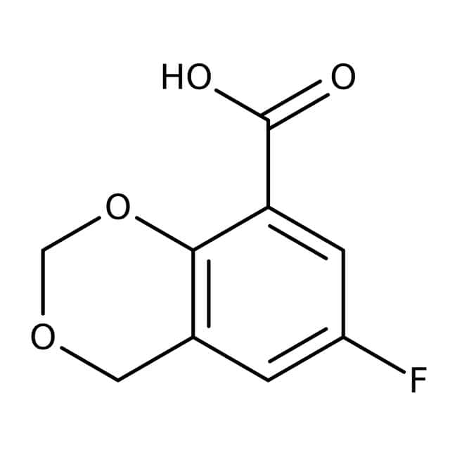 6-Fluoro-4H-1,3-benzodioxine-8-carboxylic acid, 97%, Maybridge