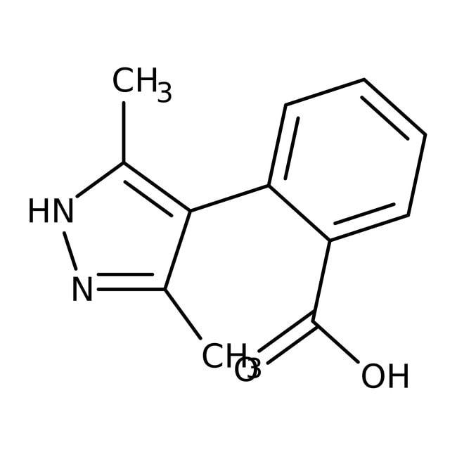 2-(3,5-Dimethyl-1H-pyrazol-4-yl)benzoic acid, 97%, Maybridge
