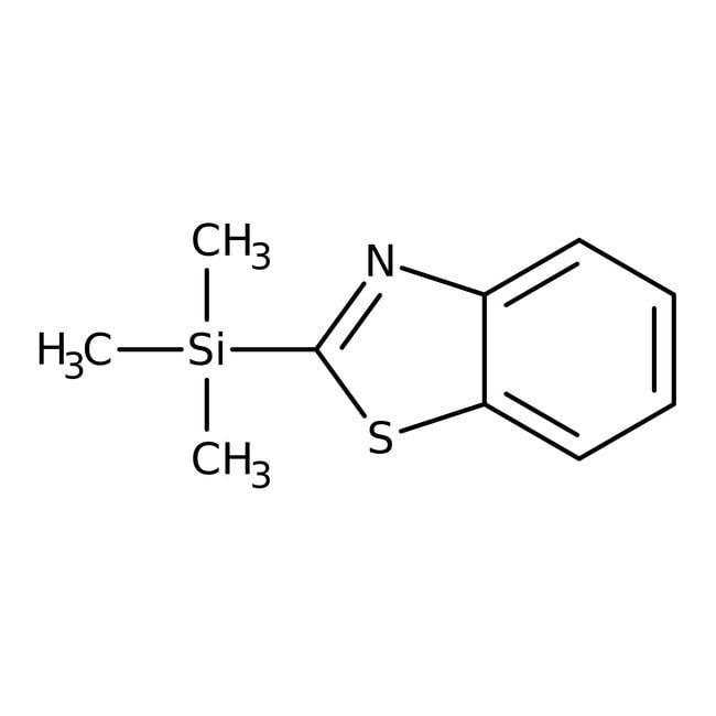 Alfa Aesar™2-(triméthylsilyl)benzothiazole, tech. 90% 1g Alfa Aesar™2-(triméthylsilyl)benzothiazole, tech. 90%