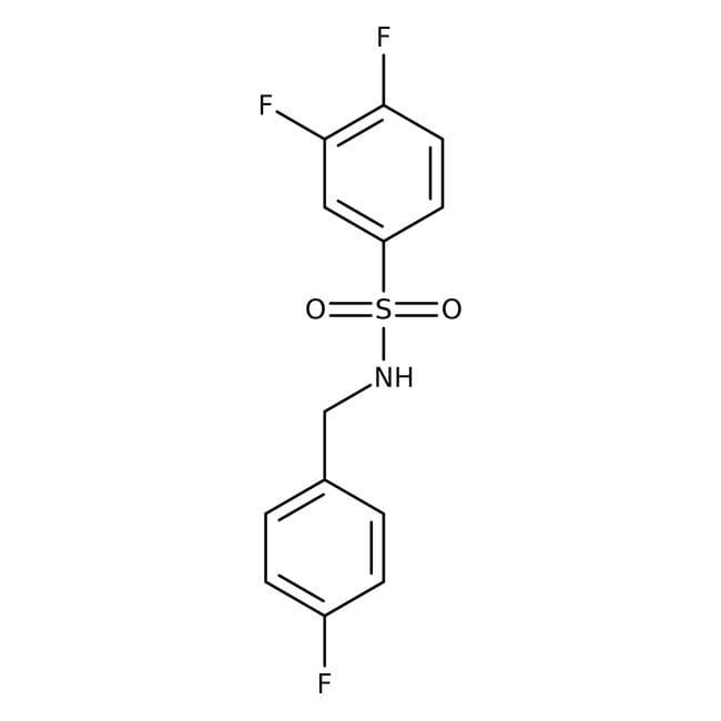 Alfa Aesar™3,4-Difluoro-N-(4-fluorobenzyl)benzenesulfonamide, 97% 1g Alfa Aesar™3,4-Difluoro-N-(4-fluorobenzyl)benzenesulfonamide, 97%