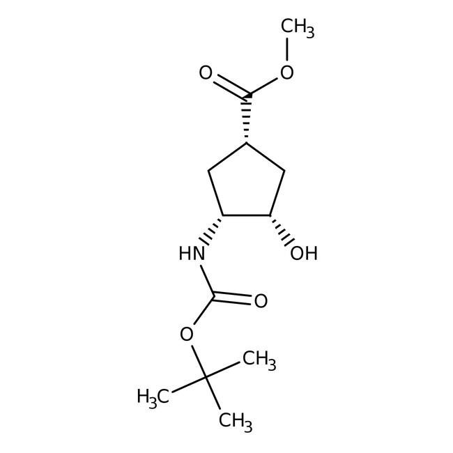 (1R,2S,4S)-N-BOC-1-Amino-2-hydroxycyclopentane-4-carboxylic acid methyl ester, 95%, 98% e.e., ACROS Organics