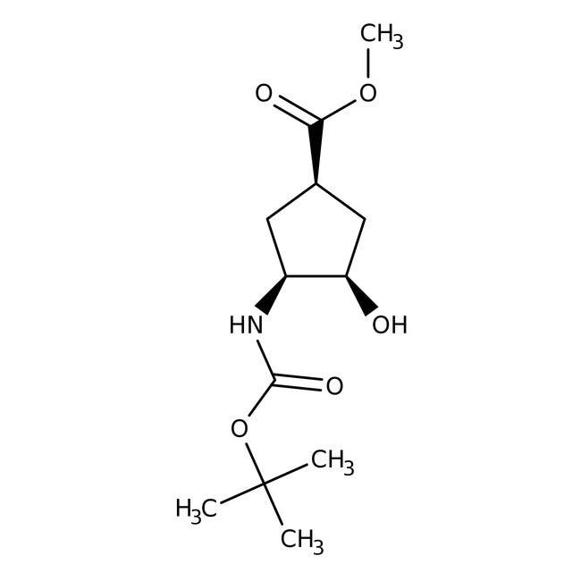 (1S,2R,4R)-N-BOC-1-Amino-2-hydroxycyclopentane-4-carboxylic acid methyl ester, 95%, 98% e.e., ACROS Organics